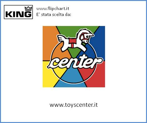 Toys Center usa la grande lavagna KING Flipchart
