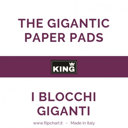 Paper Pads special size for the Big KING Flipchart