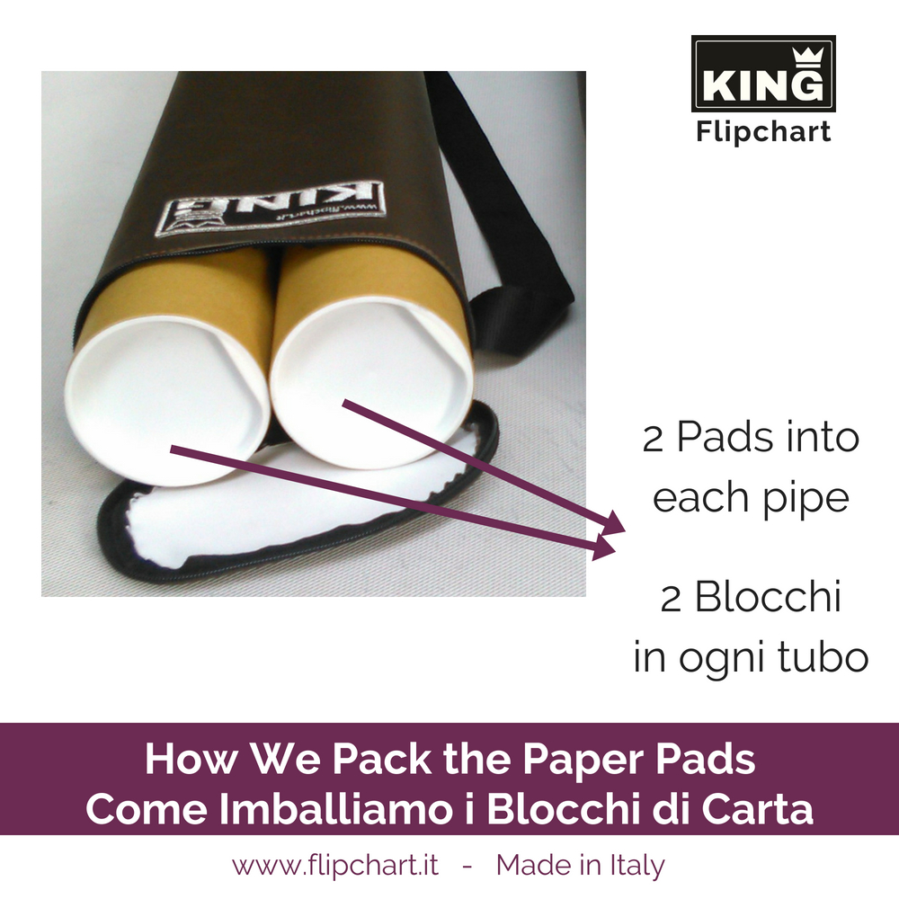 KING Flipchart How we pack the giant paper pads